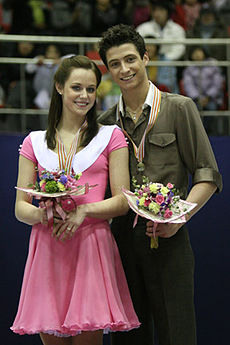 Tessa Virtue & Scott Moir Podium 2008 4CC.jpg