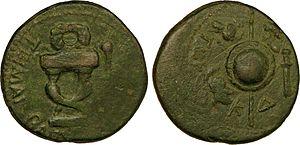 Tiberius Julius Cotys I - Tetranummia editing by Tiberius Julius Cotys I