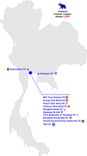 Thailand Premier League 2006 Map.jpg
