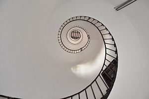 Tangasseri Lighthouse - Image: Thangassery light house spiral inside large