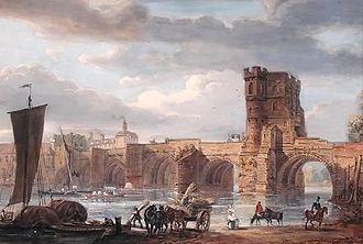 Mountfields, Shrewsbury - St George's Bridge, the old Welsh Bridge, Mountfields, Shrewsbury circa 1500