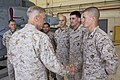 The 35th Commandant of the Marine Corps, Gen. James F. Amos, left, greets Marines during a visit to 3rd Marine Aircraft Wing at Marine Corps Air Station Camp Pendleton, CA, April 17, 2013 130417-M-LU710-462.jpg