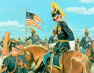 9th Cavalry Regiment (United States) - Captain and troopers of the 9th Cavalry, 1880. A Signal Corps sergeant is in the foreground.