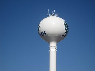 Breese, Illinois - Breese water tower along U.S. Route 50