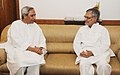 The Chief Minister of Odisha, Shri Naveen Patnaik meeting the Union Minister for Road Transport and Highways, Dr. C.P. Joshi, in New Delhi on October 21, 2011.jpg