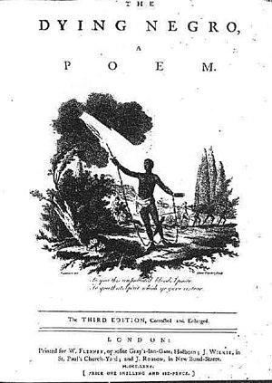The Dying Negro - The Dying Negro, title page from third edition of 1775