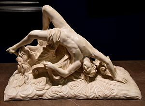 Phaethon - The Fall of Phaeton Statue. Marble, circa 1700-1711 CE. By Dominique Lefevre. From Paris, France. The Victoria and Albert Museum, London