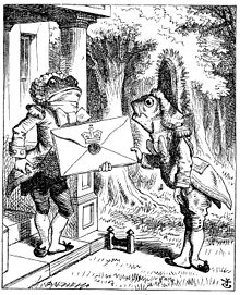 "The Fish Footman and the Frog Footman from ""Alice's Adventures in Wonderland"" (1865).jpg"