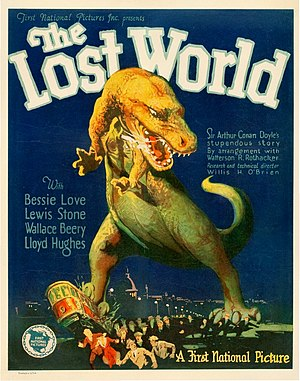 English: The Lost World (1925) film poster.