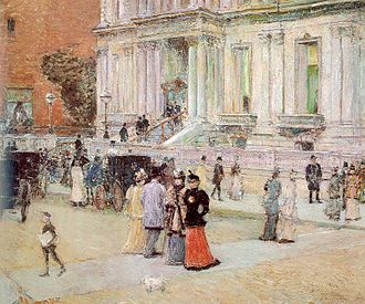Manhattan Club (social club) - Painting of the Manhattan Club in 1891 by Childe Hassam
