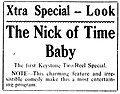 The Nick of Time Baby - 1917 advert.jpg