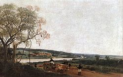 Frans Post: The Ox Cart. Brazilian landscape