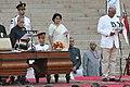 The President, Shri Pranab Mukherjee administering the oath as Cabinet Minister to Shri Ashok Gajapathi Raju Pusapati, at a Swearing-in Ceremony, at Rashtrapati Bhavan, in New Delhi on May 26, 2014.jpg