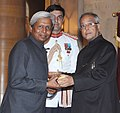 The President, Shri Pranab Mukherjee presenting the Padma Shri Award to Prof. Krishnaswamy Vijayraghavan, at an Investiture Ceremony-II, at Rashtrapati Bhavan, in New Delhi on April 20, 2013.jpg