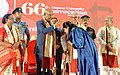 The President, Shri Ram Nath Kovind presenting the Gold Medal to a student at the 66th Convocation of Gujarat University, at Ahmedabad, in Gujarat.jpg