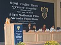 The President, Smt. Pratibha Devisingh Patil addressing at the 53rd National Film Awards function, in New Delhi on September 14, 2007.jpg