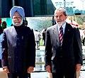The Prime Minister, Dr. Manmohan Singh with the President of Brazil, Mr. Luiz Inacio Lula da Silva, at official welcome ceremony at Sala de Estado, Alvorada Palace, in Brasilia, Brazil, on September 12, 2006.jpg