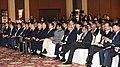 The Union Minister for Commerce & Industry and Civil Aviation, Shri Suresh Prabhakar Prabhu along with the President of the Republic of South Korea, Mr. Moon Jae-in, at the India – Korea Business Forum, in New Delhi.JPG