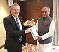 The Union Minister for Mines and Steel, Shri Narendra Singh Tomar meeting the Deputy Prime Minister of the Republic of Poland, Prof. Piotr Glinski, in Mumbai on February 15, 2016.jpg