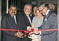 The Union Minister for Shipping, Shri G.K. Vasan with the Her Royal Highness, Princess Astrid of Belgium and other dignitaries inaugurating the Art Exhibition Masterpieces of Antwerp, in Mumbai on November 27, 2013.jpg