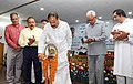 The Vice President, Shri M. Venkaiah Naidu lighting the lamp at an event to address the scientists, students, staff of the Indian Institute of Integrative Medicine, in Jammu, J&K.JPG
