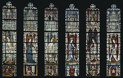 The Virgin Mary and Five Standing Saints above Predella Panels Full.jpg