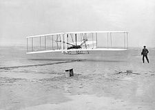 The Wright Brothers; first powered flight HU98267.jpg