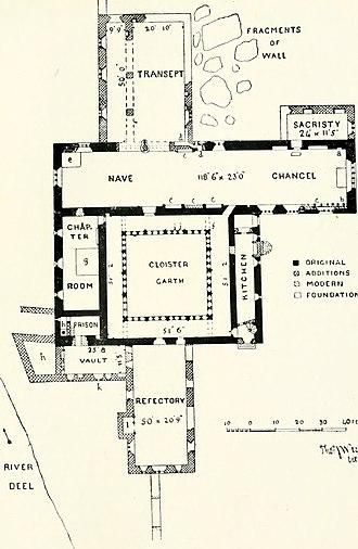 Ardfert Cathedral - Floorplan