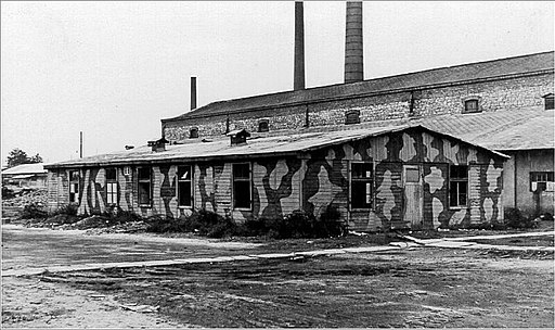 The factory building in the HASAG labor camp in Czestochowa.