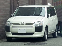 The frontview of Mazda FAMILIA VAN DX (DBE-NCP160M).jpg