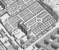 The grounds of the Hôtel du Maine from the Turgot map of Paris circa 1737.png