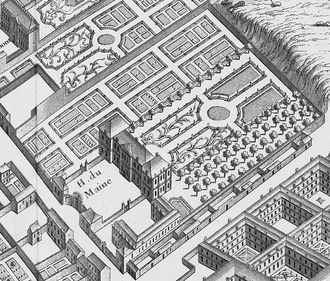 Hôtel Biron - Grounds as depicted on the 1739 Turgot map of Paris
