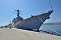 The guided missile destroyer USS Ross (DDG 71) is moored pierside during a scheduled port visit to Naval Support Activity Souda Bay, Greece, Aug. 26, 2014 140826-N-IY142-411.jpg