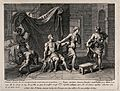 The shorn Samson is rebuffed by Delilah. Engraving by C. Sim Wellcome V0034303.jpg