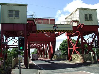 Inchinnan - Image: The swing bridge geograph.org.uk 860105