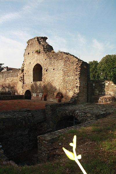 Thermes du Palais du Miroir à Saint-Romain-en-Gal, Isère, France