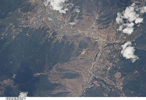 Thimphu - Astronaut view of Thimphu