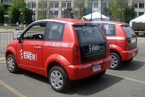 Think City - Th!nk City electric cars at a test drive event in Washington, D.C.