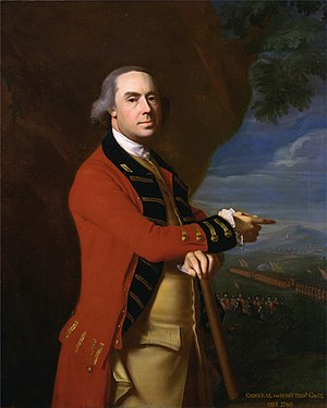 11th Hussars - General Thomas Gage Commander-in-Chief of British forces in North America and, later, colonel of the regiment, John Singleton Copley, circa 1768