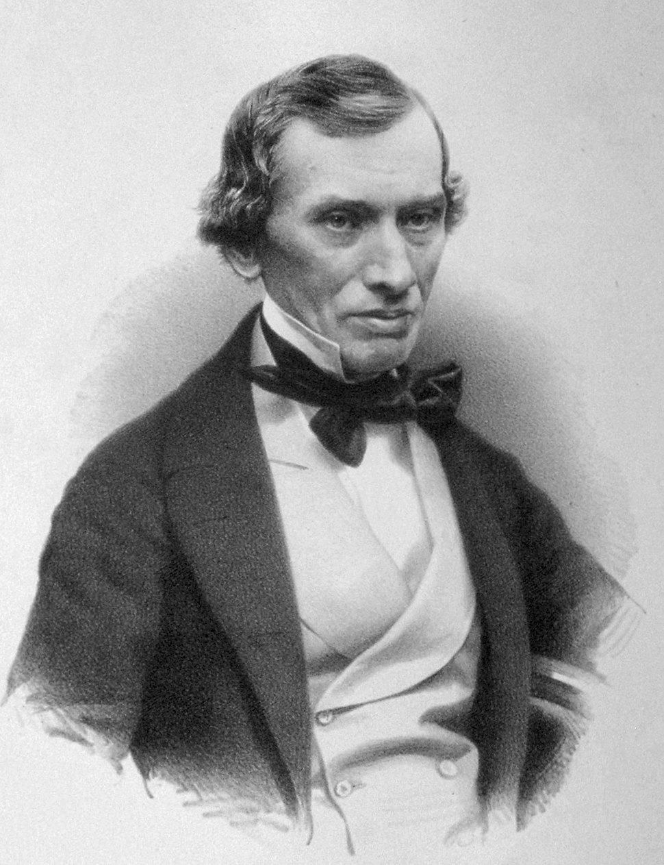 Lithograph portrait of Thomas Graham in 1856