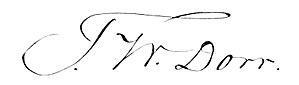 Thomas Wilson Dorr - Image: Thomas Wilson Dorr signature