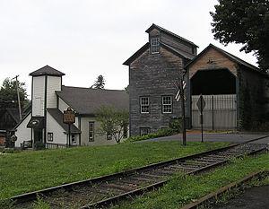 Lemont, Pennsylvania - Thompson Grain Elevator and coal sheds in Lemont