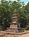 Three-story Stone Pagoda at Geumdangam in Donghwasa temple Daegu, Korea.jpg