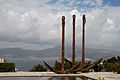 Three Anchors in the Port of Vigo (monument). Galicia, Spain,Southwestern Europe.jpg