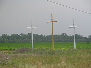 Madison Parish, Louisiana - Christian crosses off U.S. Highway 65 in south Madison Parish
