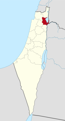 Location of Tiberias Subdistrict