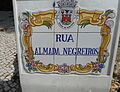 Tile sign, Rua Almada Negreiros 28 March 2016.JPG