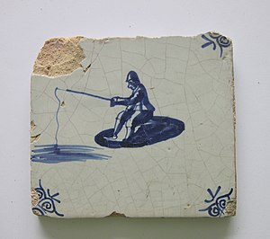 Tile with angler 18the centry from Holland..JPG