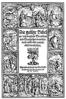 Titel Bibel Zwingli zürich