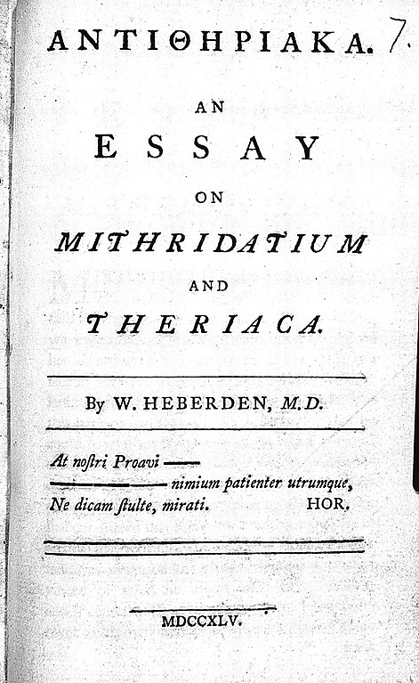 file title page of antitheriaka an essay on mithridatium and  file title page of antitheriaka an essay on mithridatium and wellcome l0000057 jpg